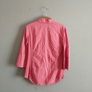 James Perse Tops - Standard James Perse Sz 3 Coral Contrast Knit Top
